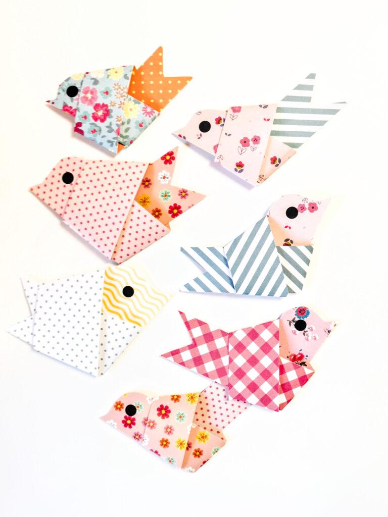 Papierstreifen Vögel